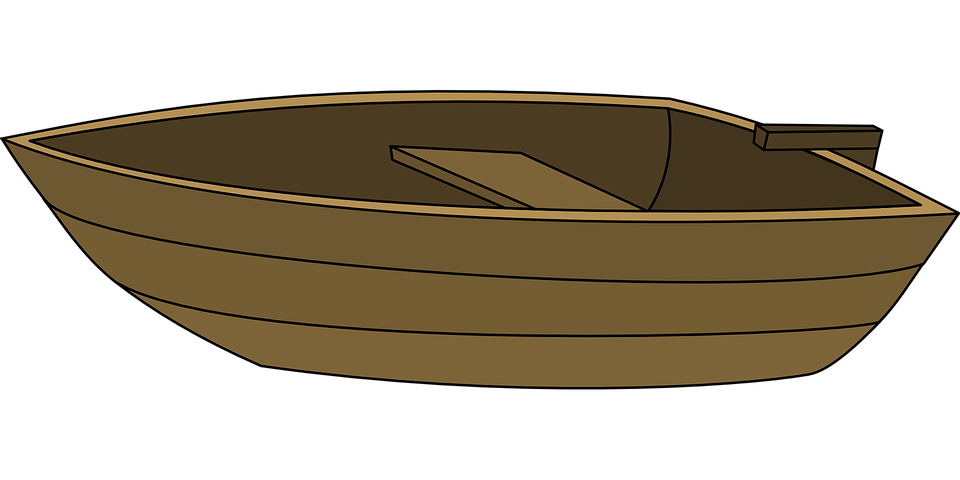 boat wood rowing vector graphic pixabay #18550