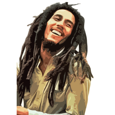 bob marley side view transparent png stickpng #36855