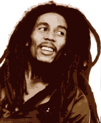 psd detail bob marley painting official psds #36852