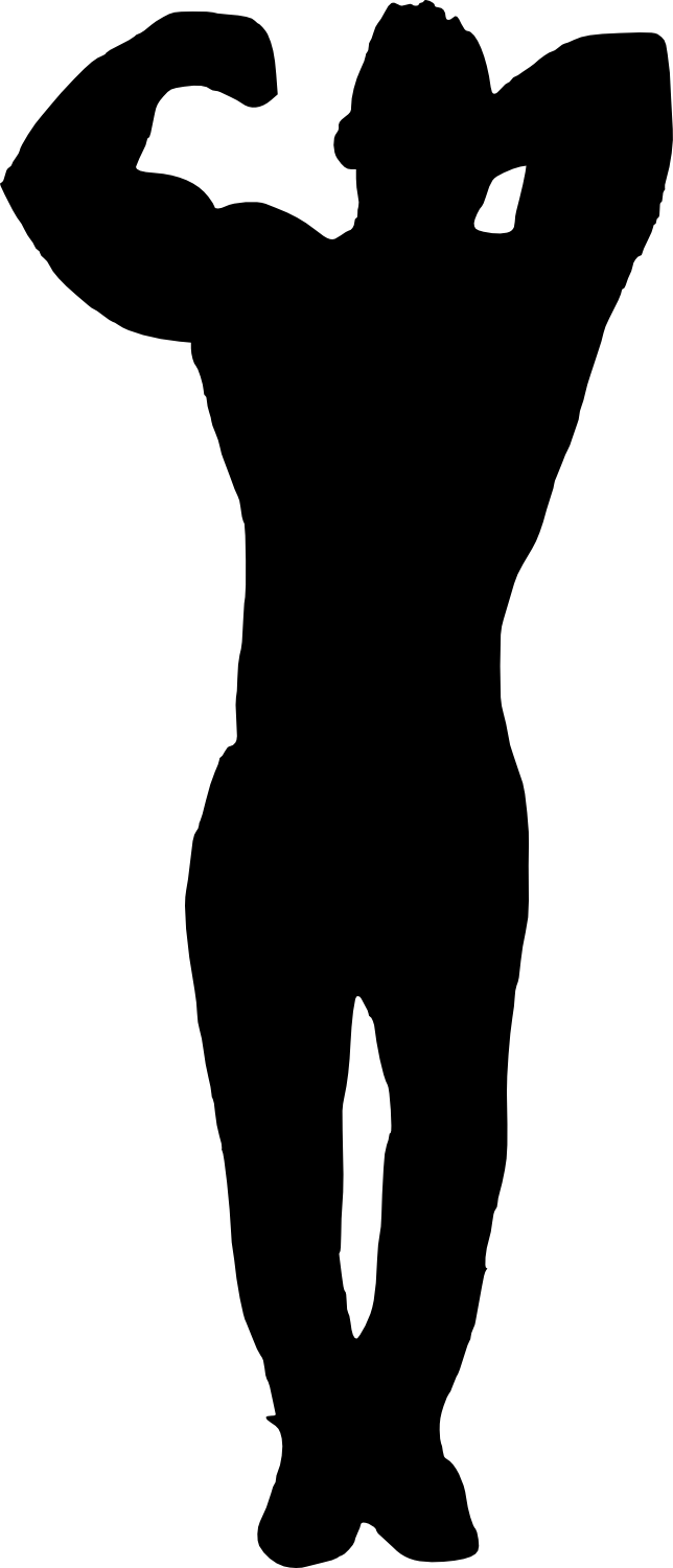 bodybuilder, muscle man body builder silhouette png transparent onlygfxm #29089