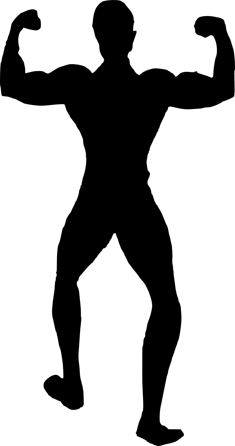 bodybuilder, muscle man body builder silhouette png transparent onlygfxm #29091