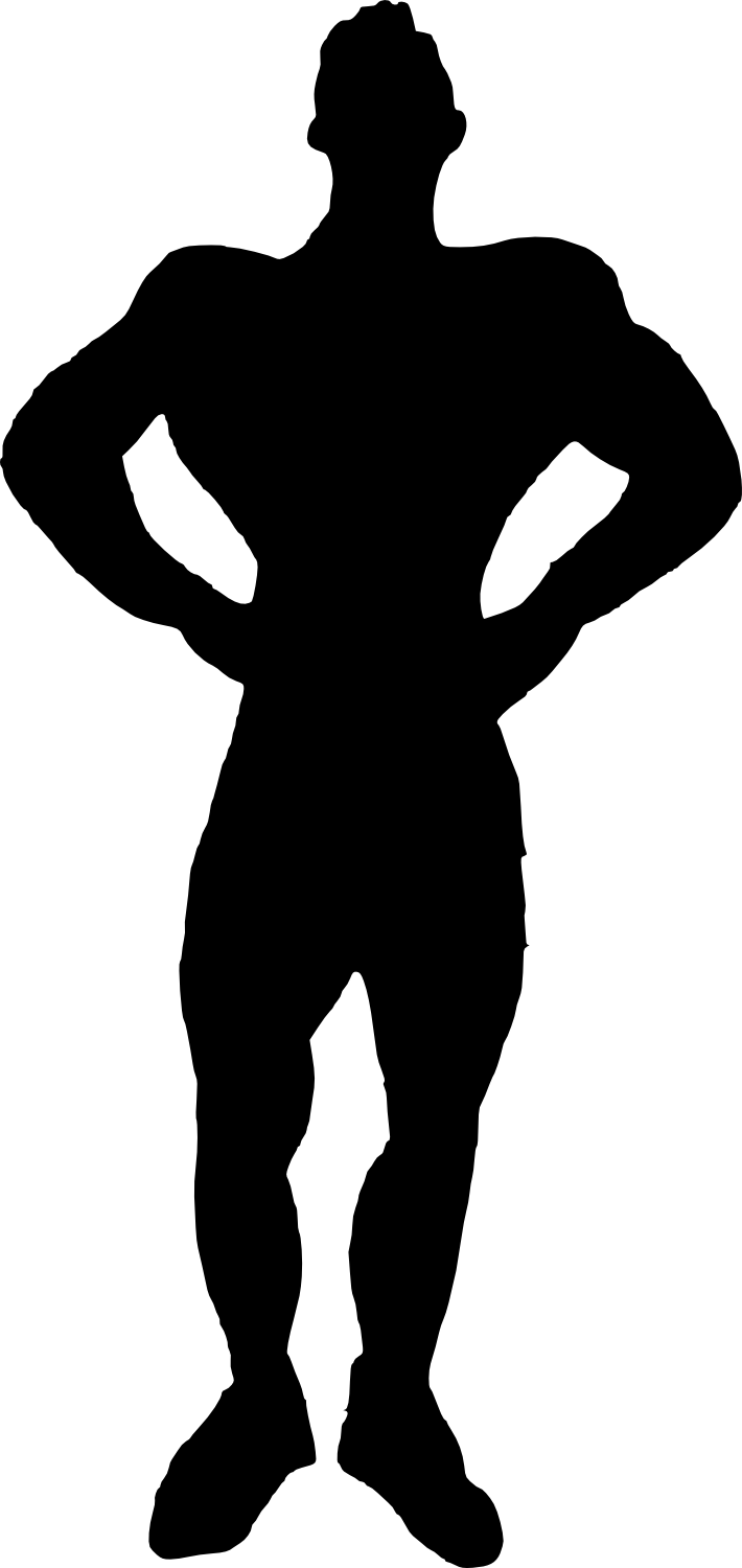 bodybuilder, muscle man body builder silhouette png transparent onlygfxm #29103