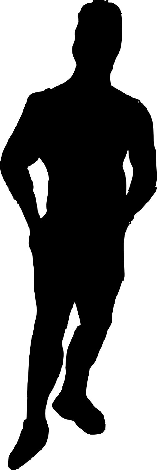 bodybuilder, muscle man body builder silhouette png transparent onlygfxm #29104