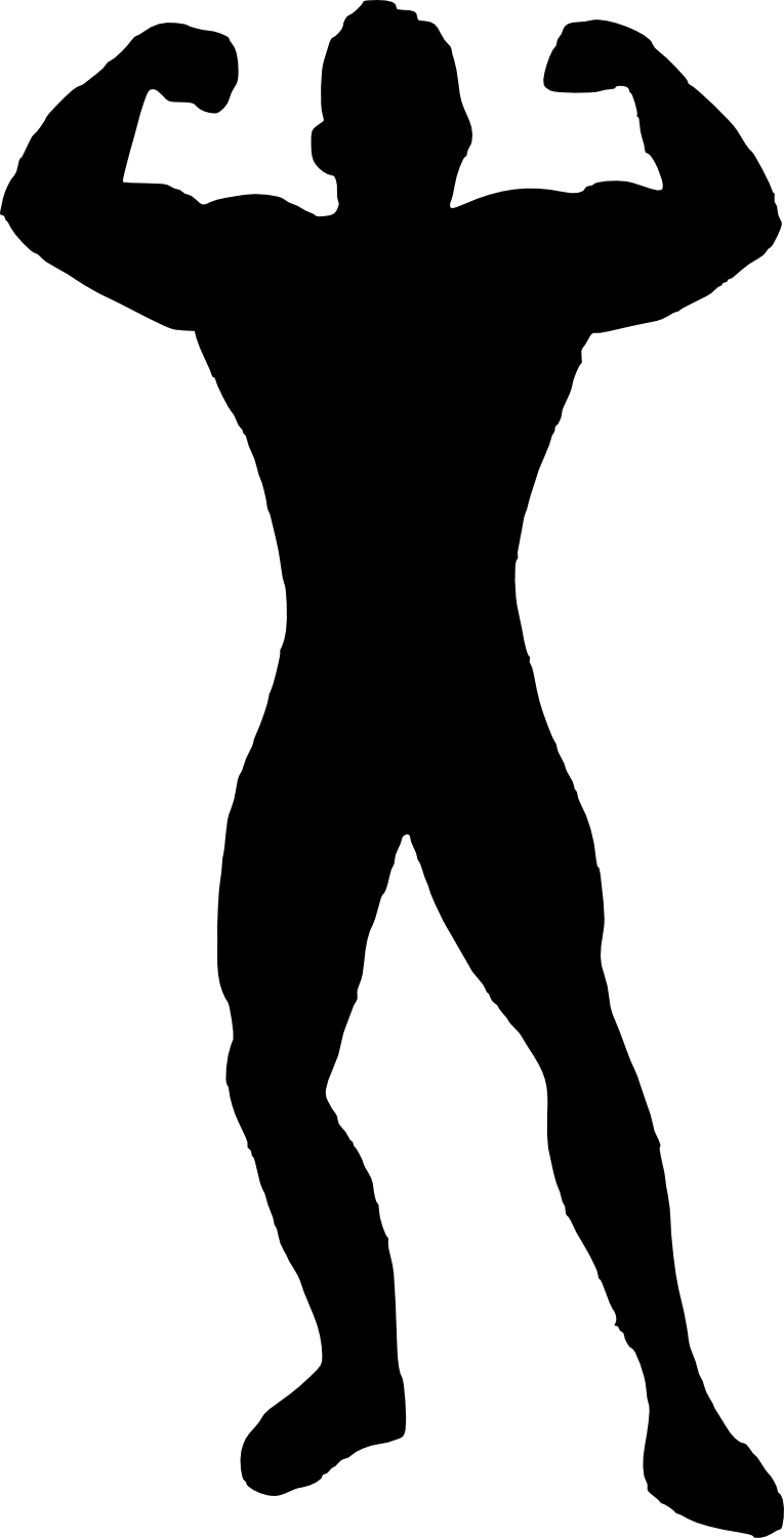 bodybuilder, muscle man body builder silhouette png transparent onlygfxm #29108