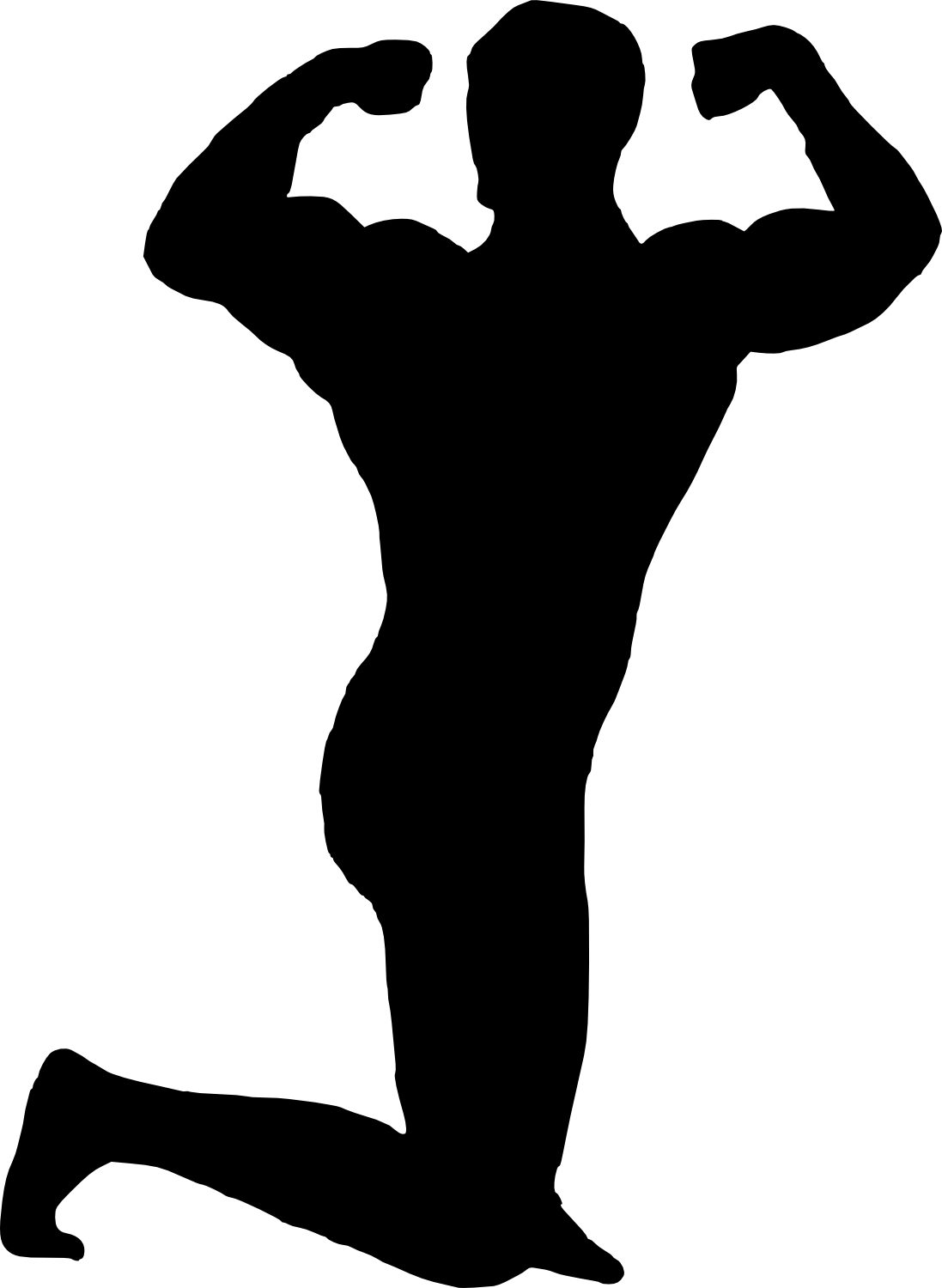 bodybuilder, muscle man body builder silhouette png transparent onlygfxm #29115