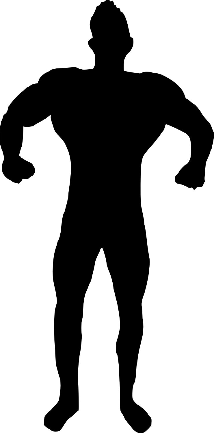 bodybuilder, muscle man body builder silhouette png transparent onlygfxm #29119