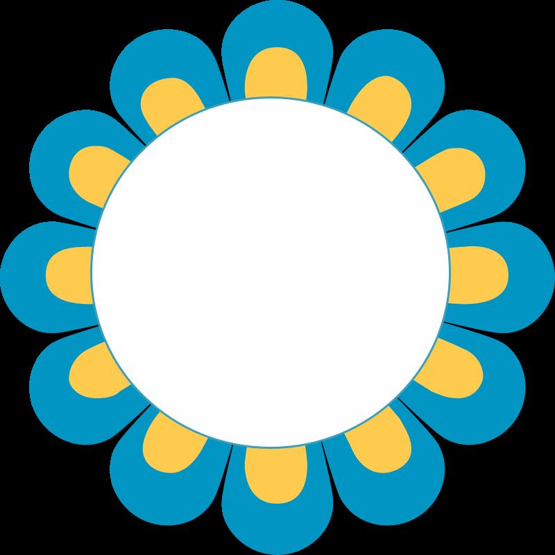 border undangan frame bunga cikgu bahan bantu mengajar #34133