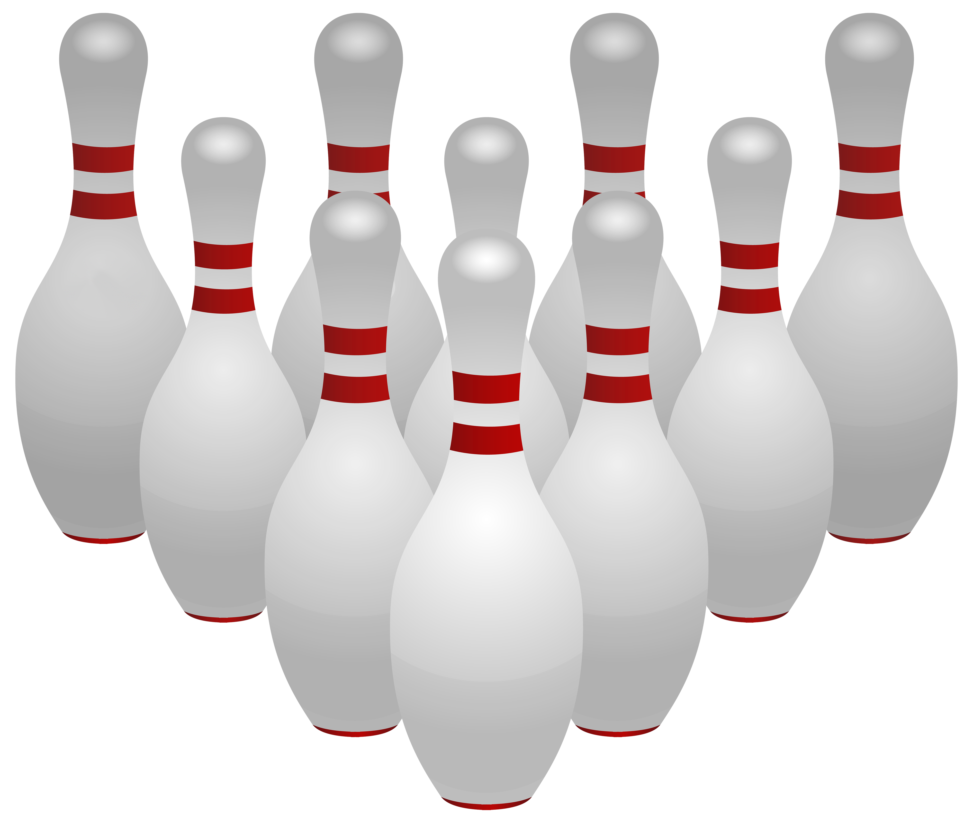 bowling ball pins transparent clipart image 9001