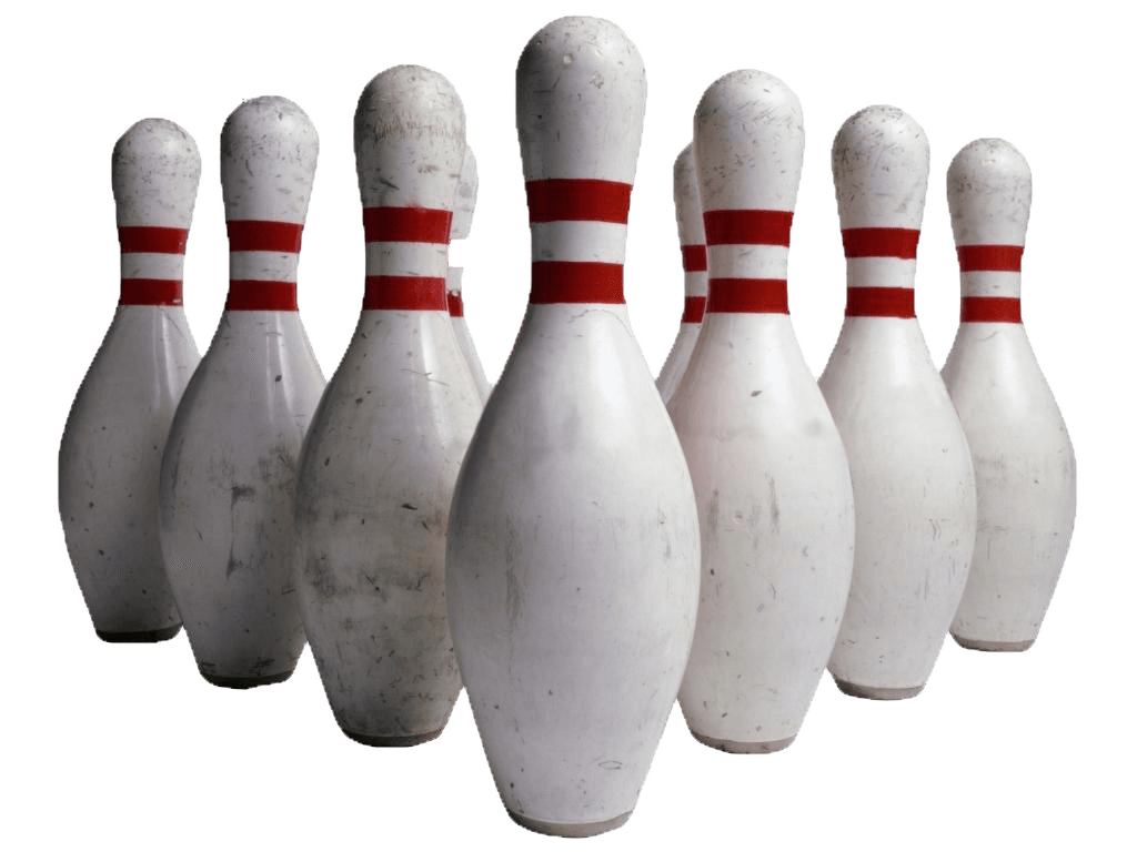 bowling pins transparent 9006