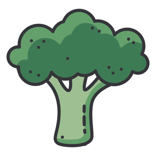 broccoli color icon transparent png svg vector #28730