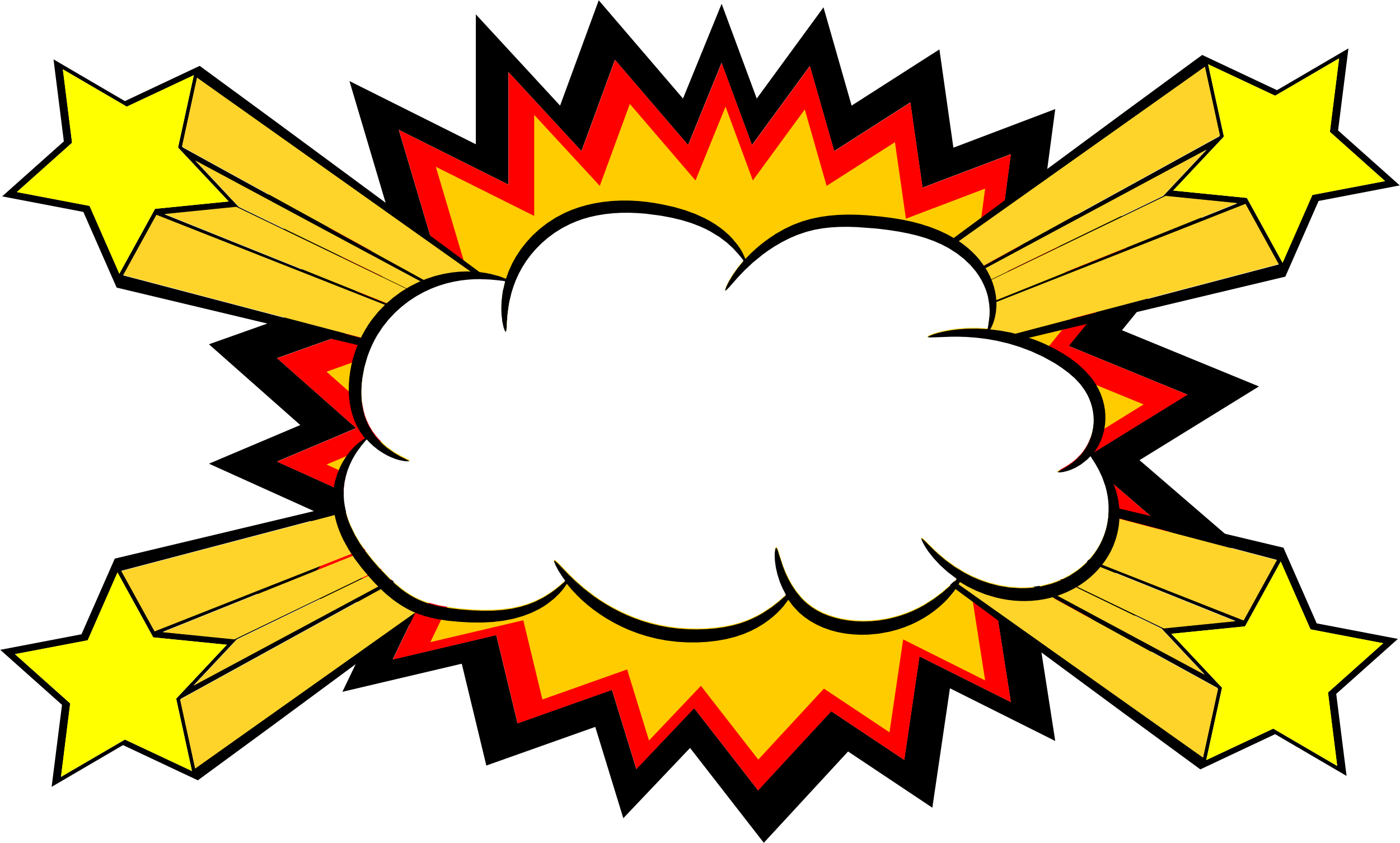 comic explosion bubble png transparent svg vector #30837