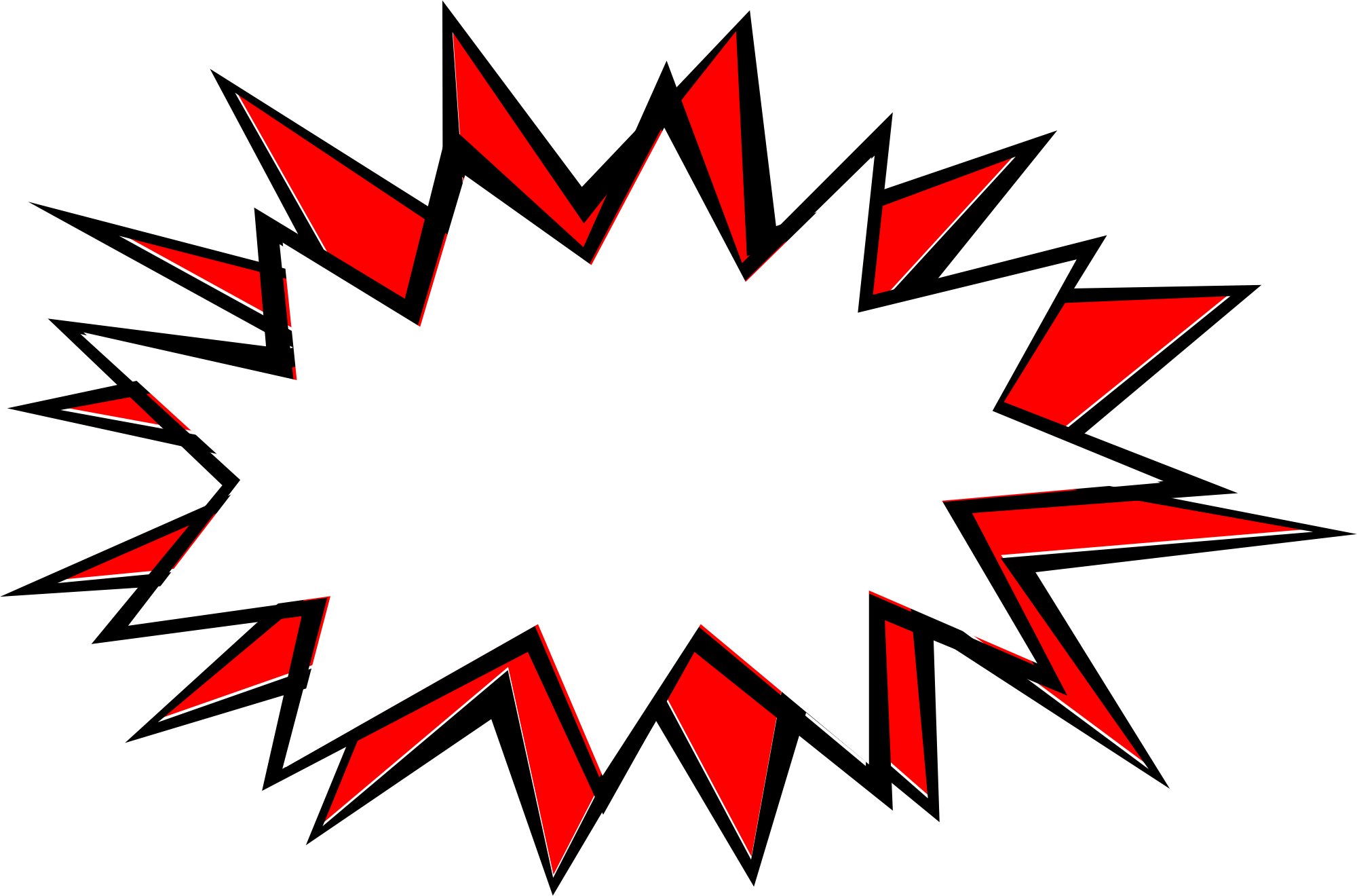 comic explosion bubble png transparent svg vector #30839