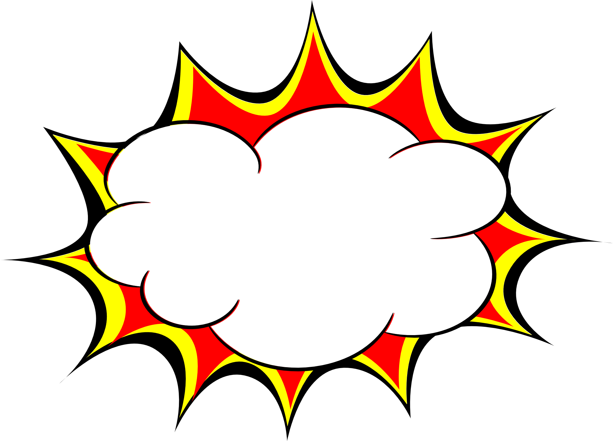 comic explosion bubble png transparent svg vector #30859