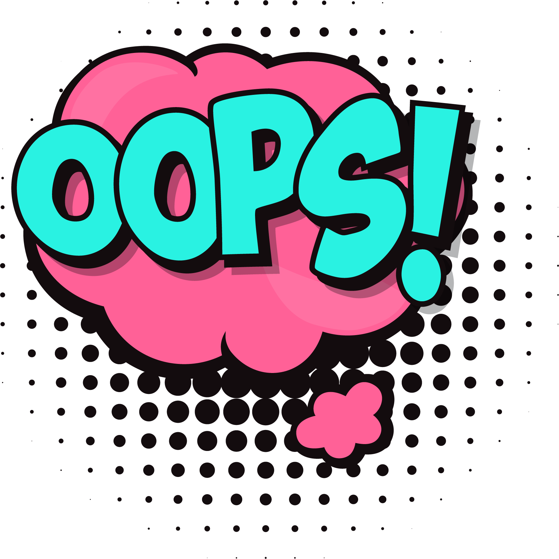 oops speech bubble png clipartlym #30843