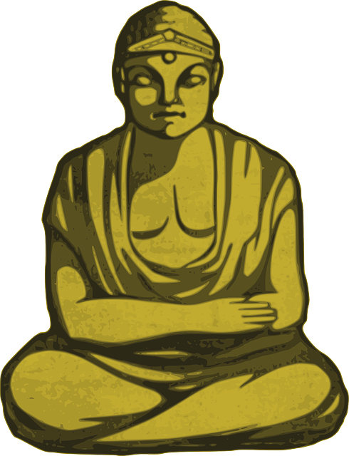 buddha gold religion vector graphic pixabay #21098