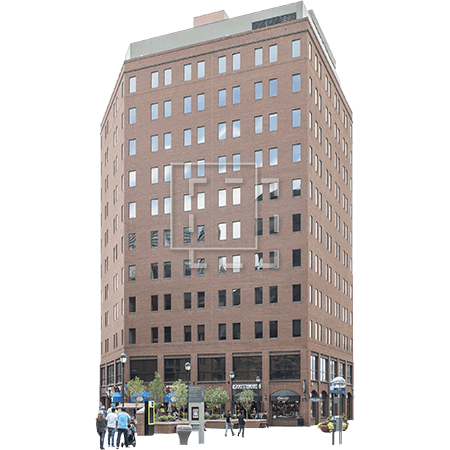 red brick office and retail building immediate entourage #11592