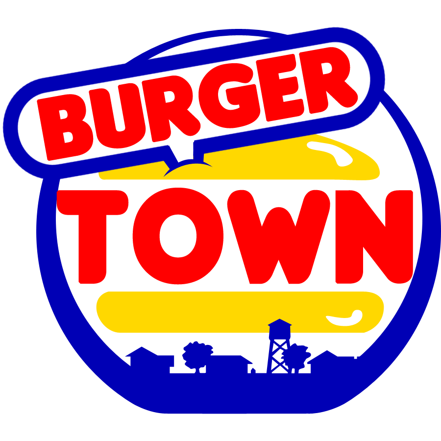 vector burger town png logo images