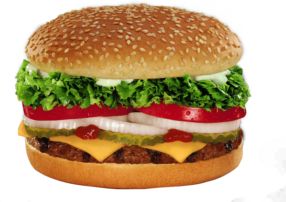 burger king whopper with cheese png image purepng #10969
