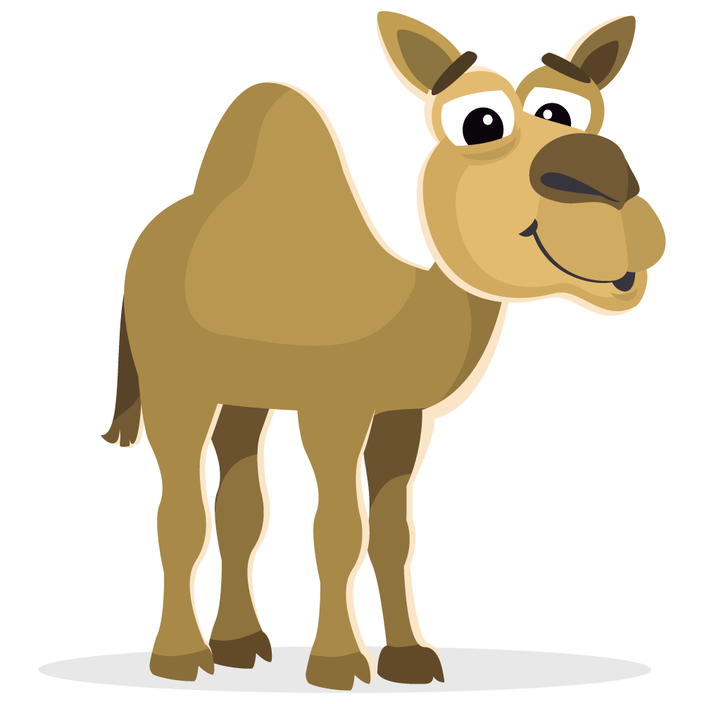 camel, larger clipart mammal pencil and color larger clipart #21417