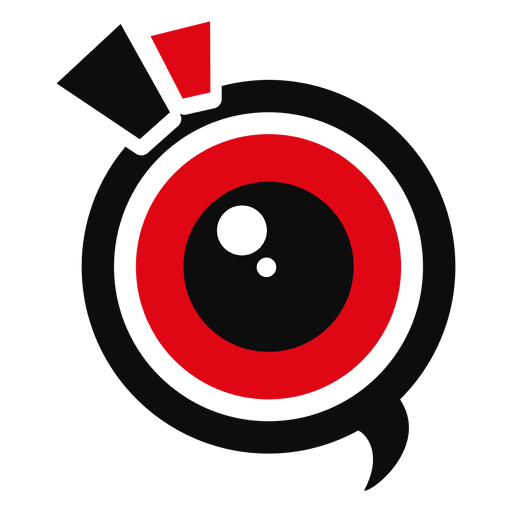 camera logo black red circle