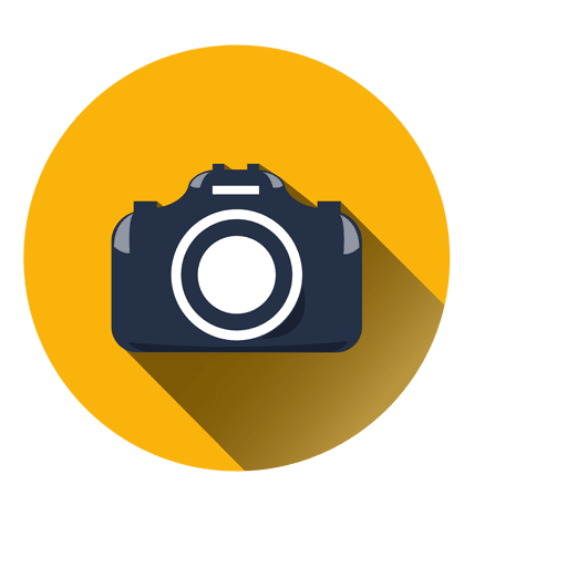 flat camera circle icon transparent vector