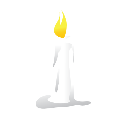 candle halloween scary white icon #15923