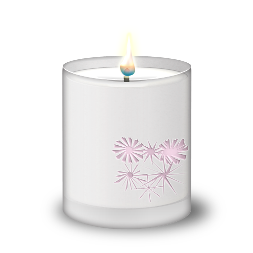 frosted glass candle icon diwali icons softiconsm #15890