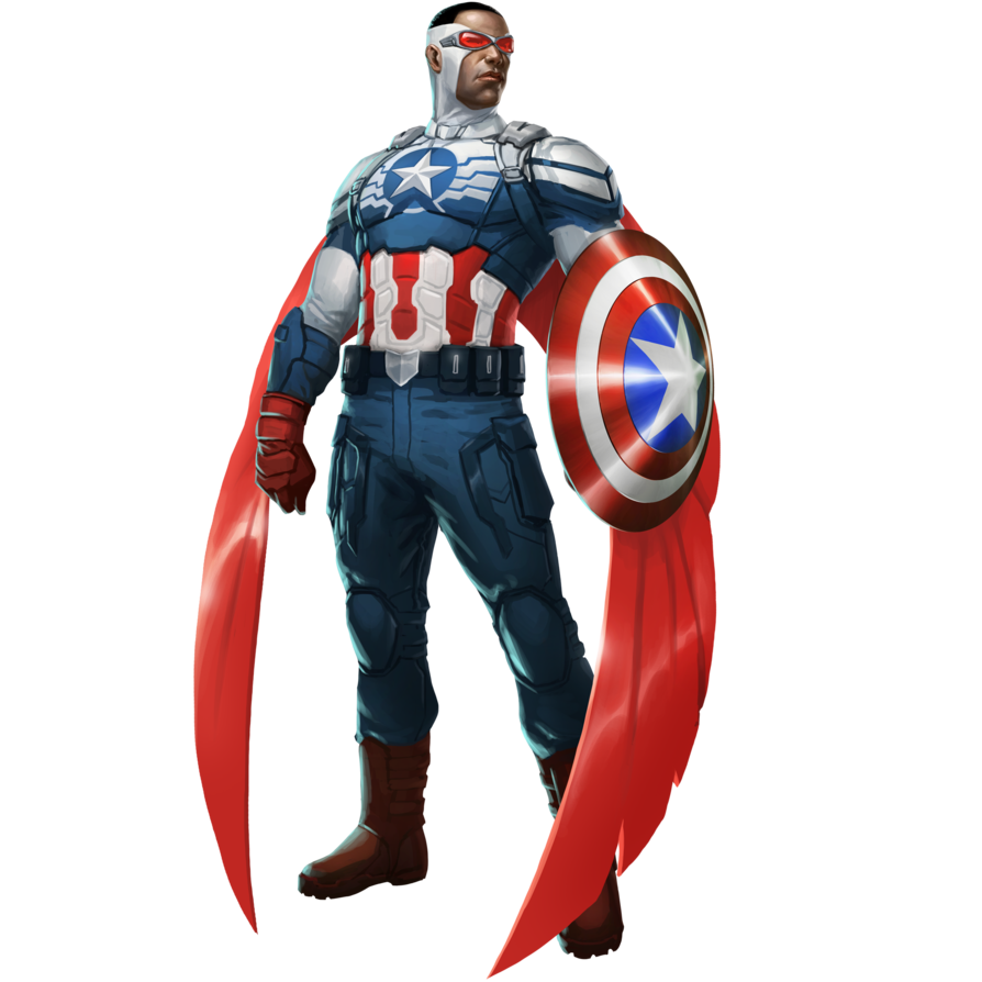 falcon captain america png render mrvideo vidman #11575