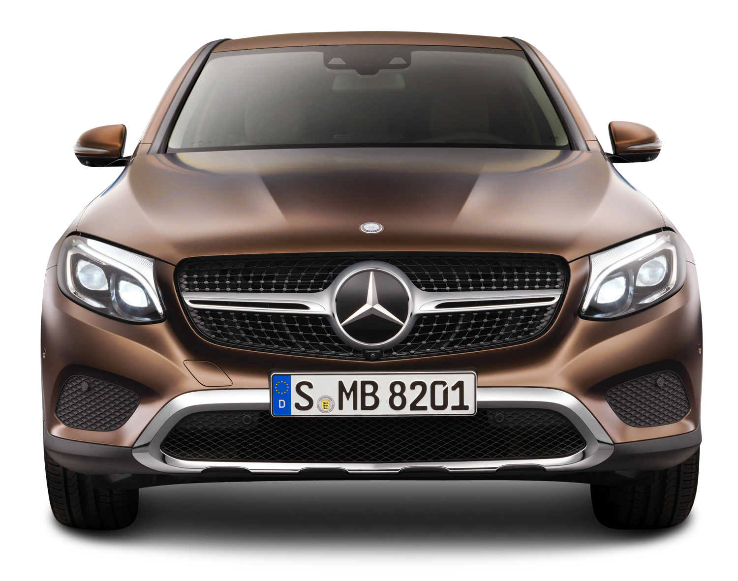 brown mercedes benz gle coupe front view car png image #9304