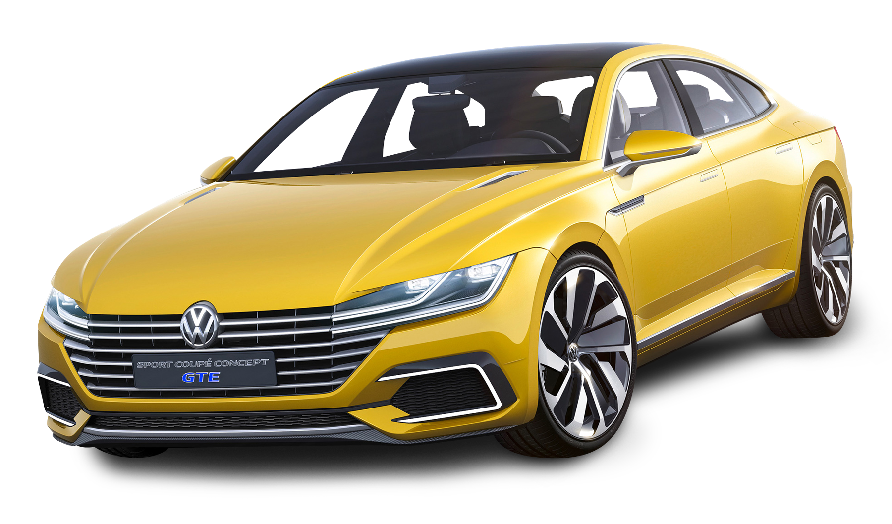 volkswagen sport coupe gte yellow car png image pngpix 9313