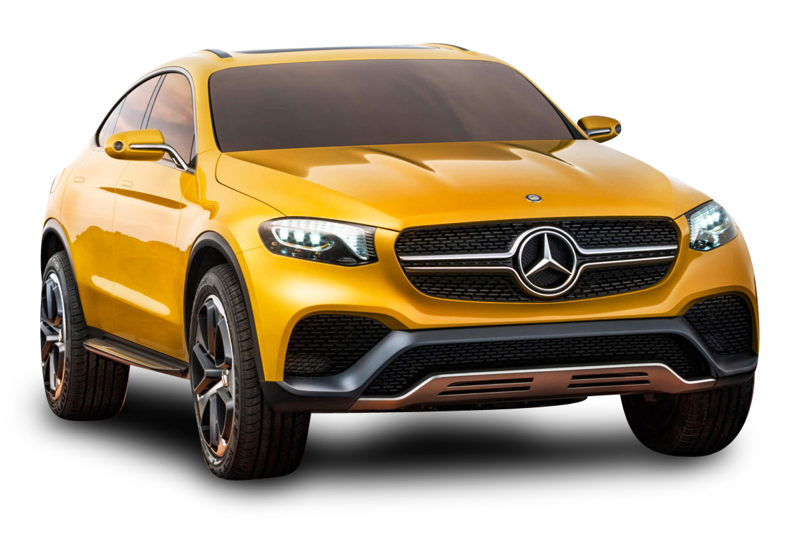 yellow mercedes benz glc coupe car png image pngpix #9292