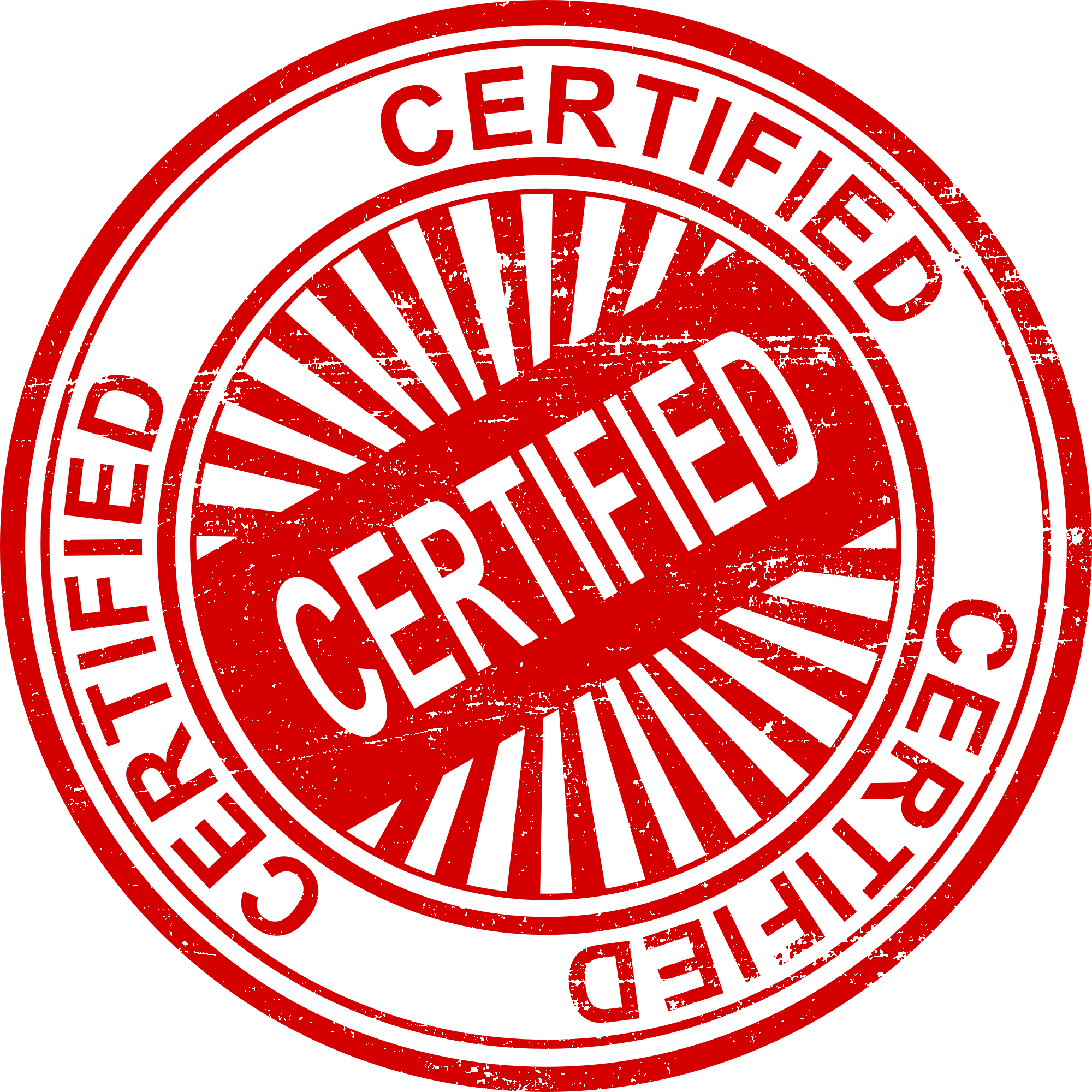 certified stamp, red certified image #39462