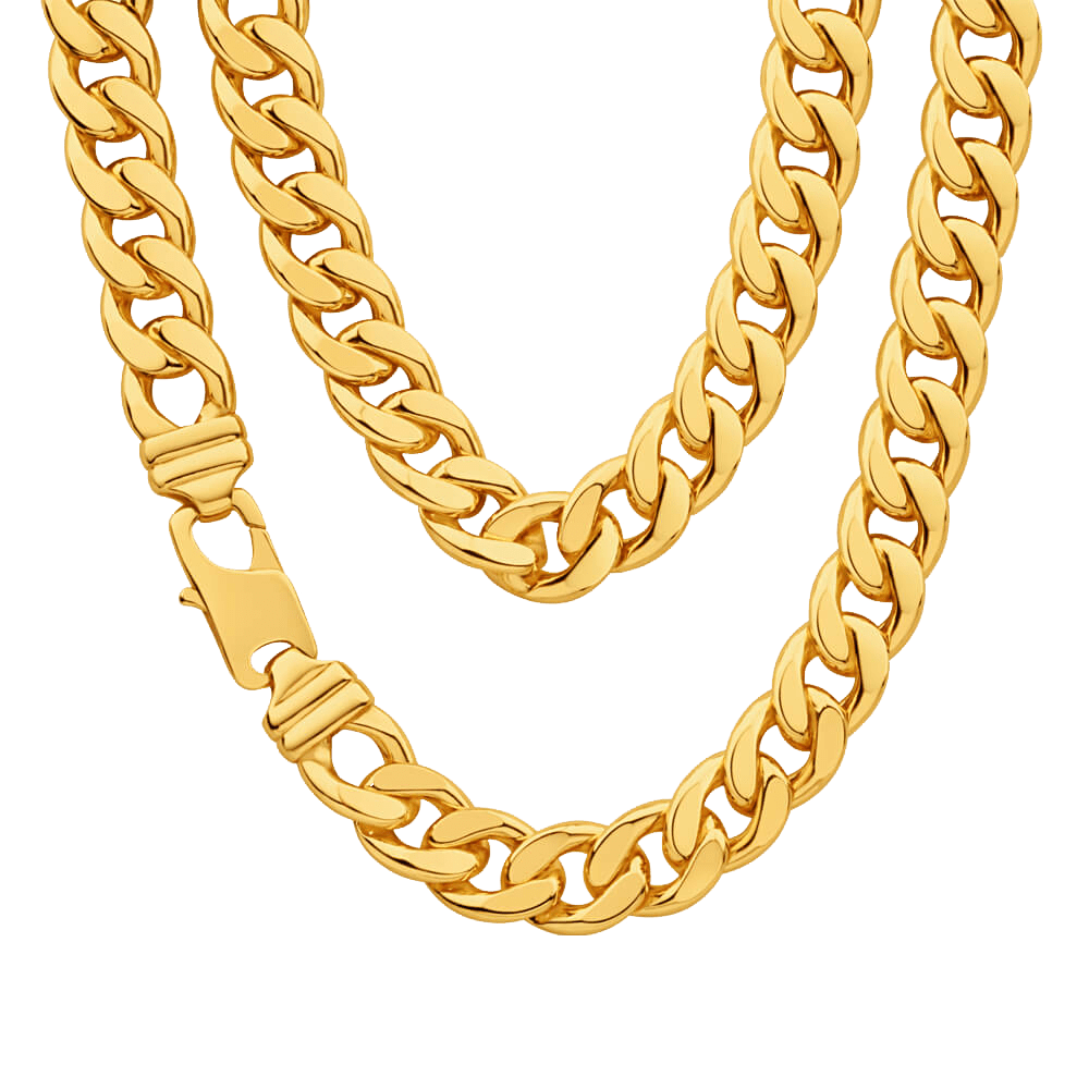 thug life gold chain shiny transparent #8274
