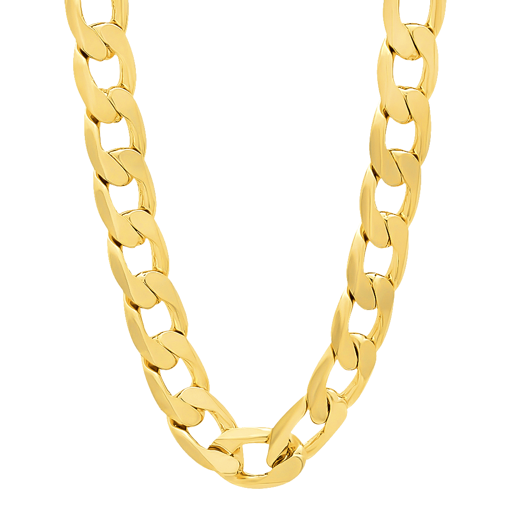thug life real gold chain transparent #8303