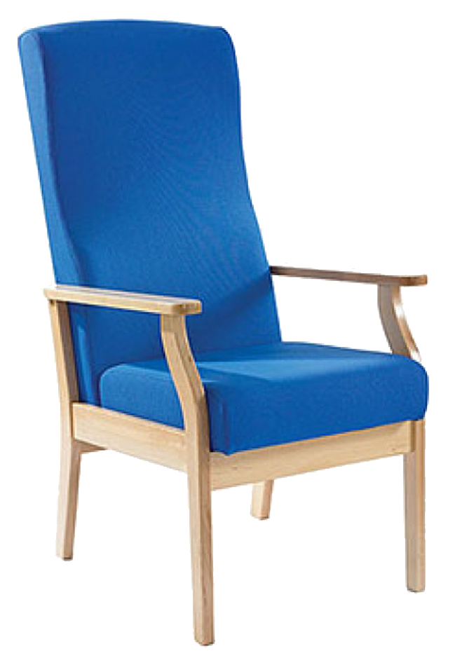blue wooden chair transparent background #13224