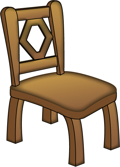 chair, table clipart brown objects pencil and color table #13241