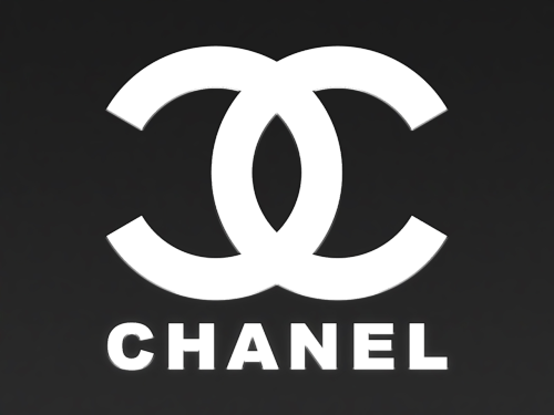 chanel logo on black background 1942