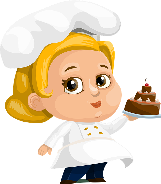 chef cake woman vector graphic pixabay #14542
