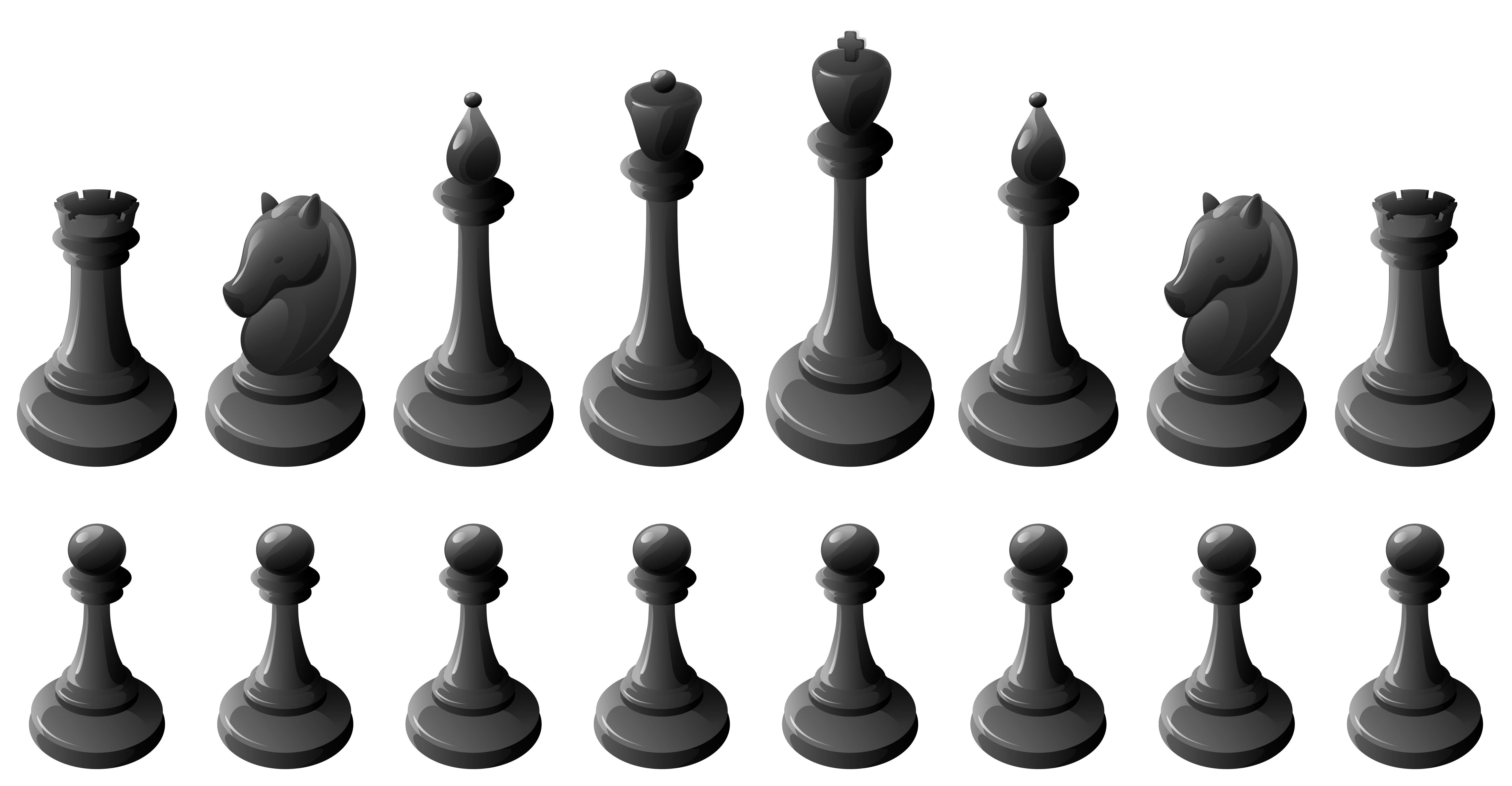 black chess pieces png clipart #39307