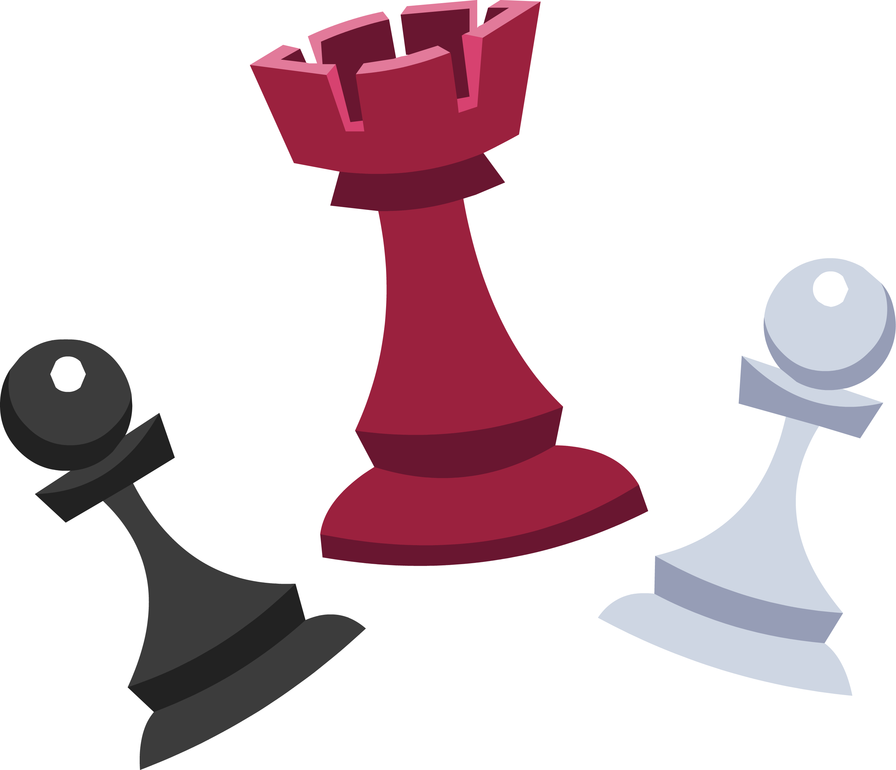 red, black, white chess pieces #39319