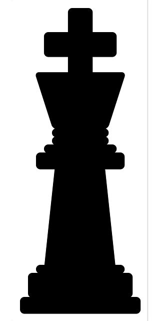 chess king piece silhouette #39328