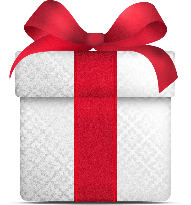 christmas gift, white gift christmas transparent png stickpng #28066