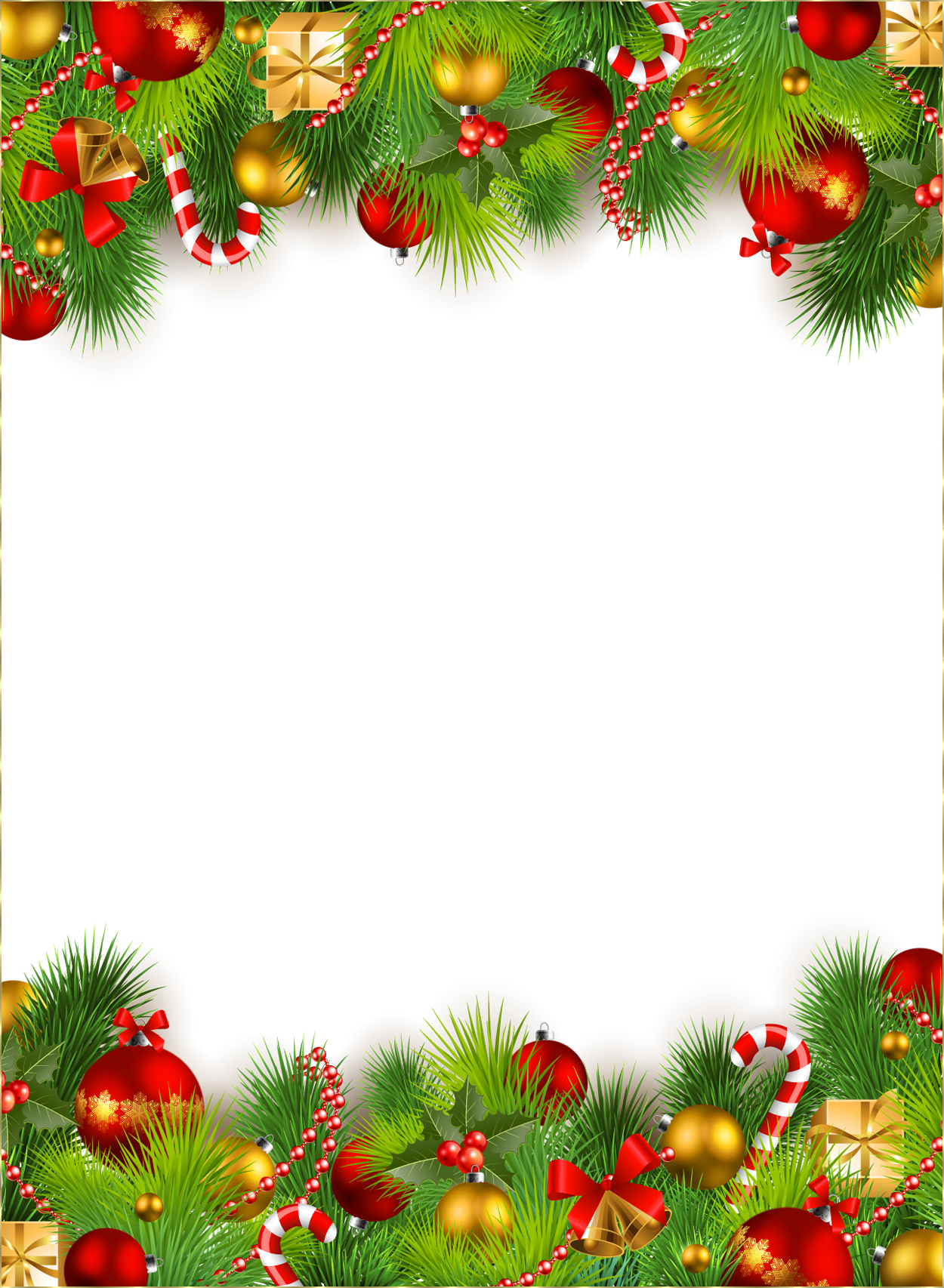decorative christmas border festival collections #9603