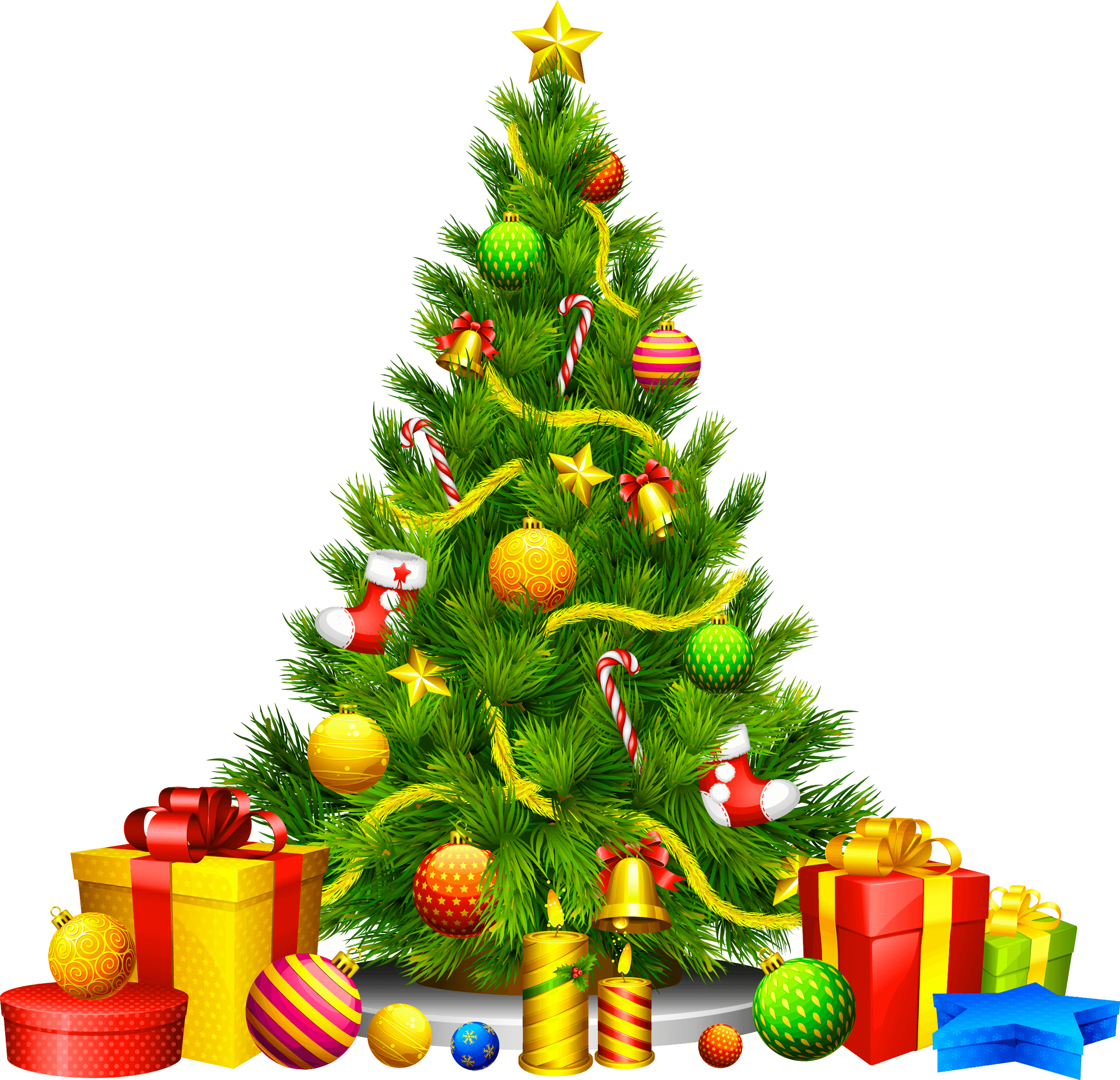 gifts cartoon christmas fir tree png image #9606