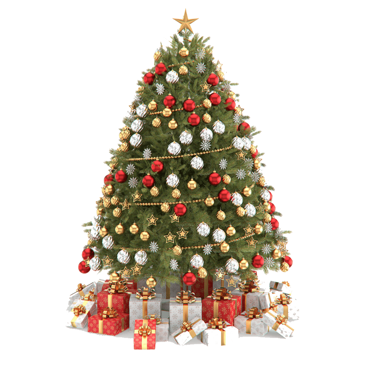 beautiful christmas tree png clipart #11662