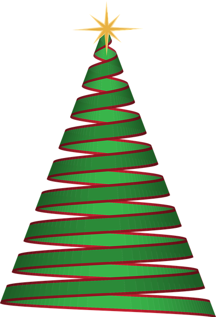 christmas tree ribbon green vector graphic pixabay 11705