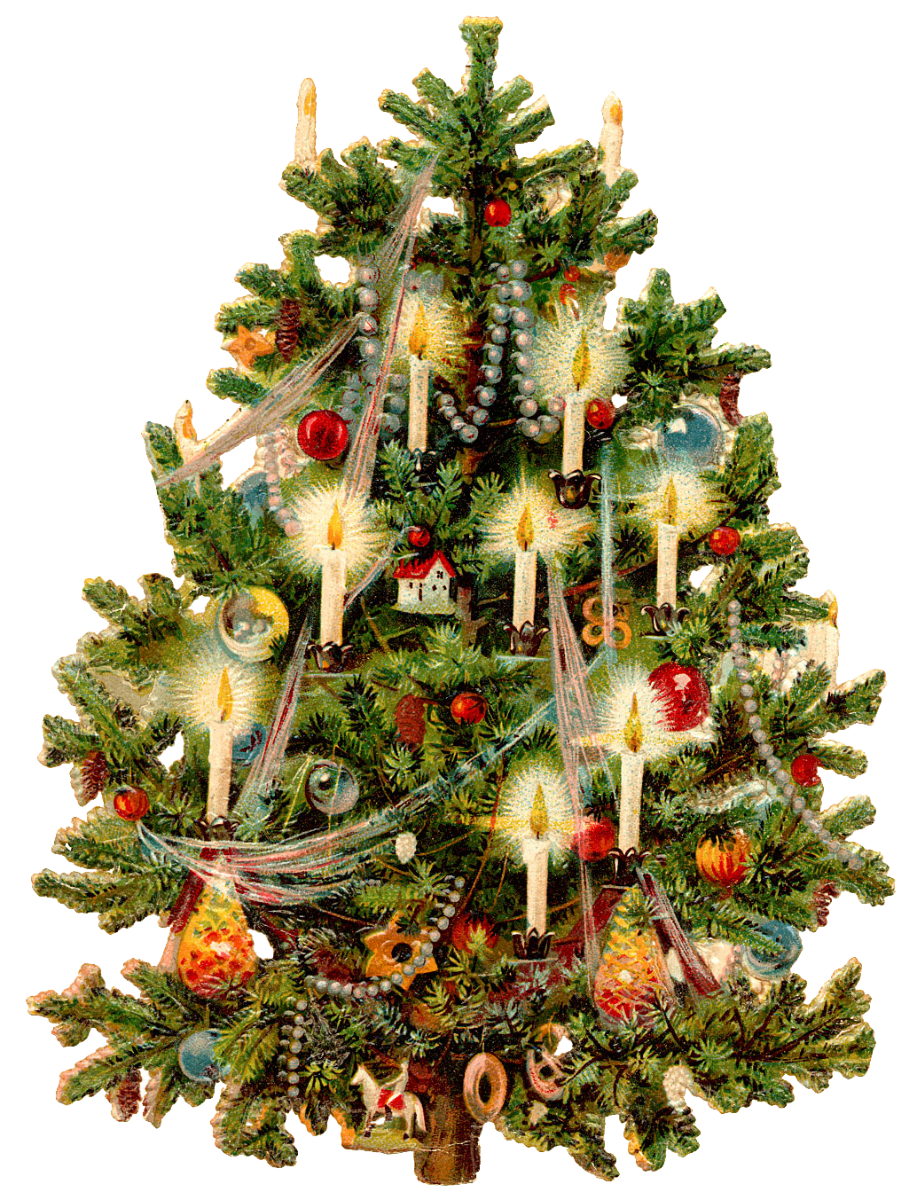 victorian christmas tree wings whimsy #11628