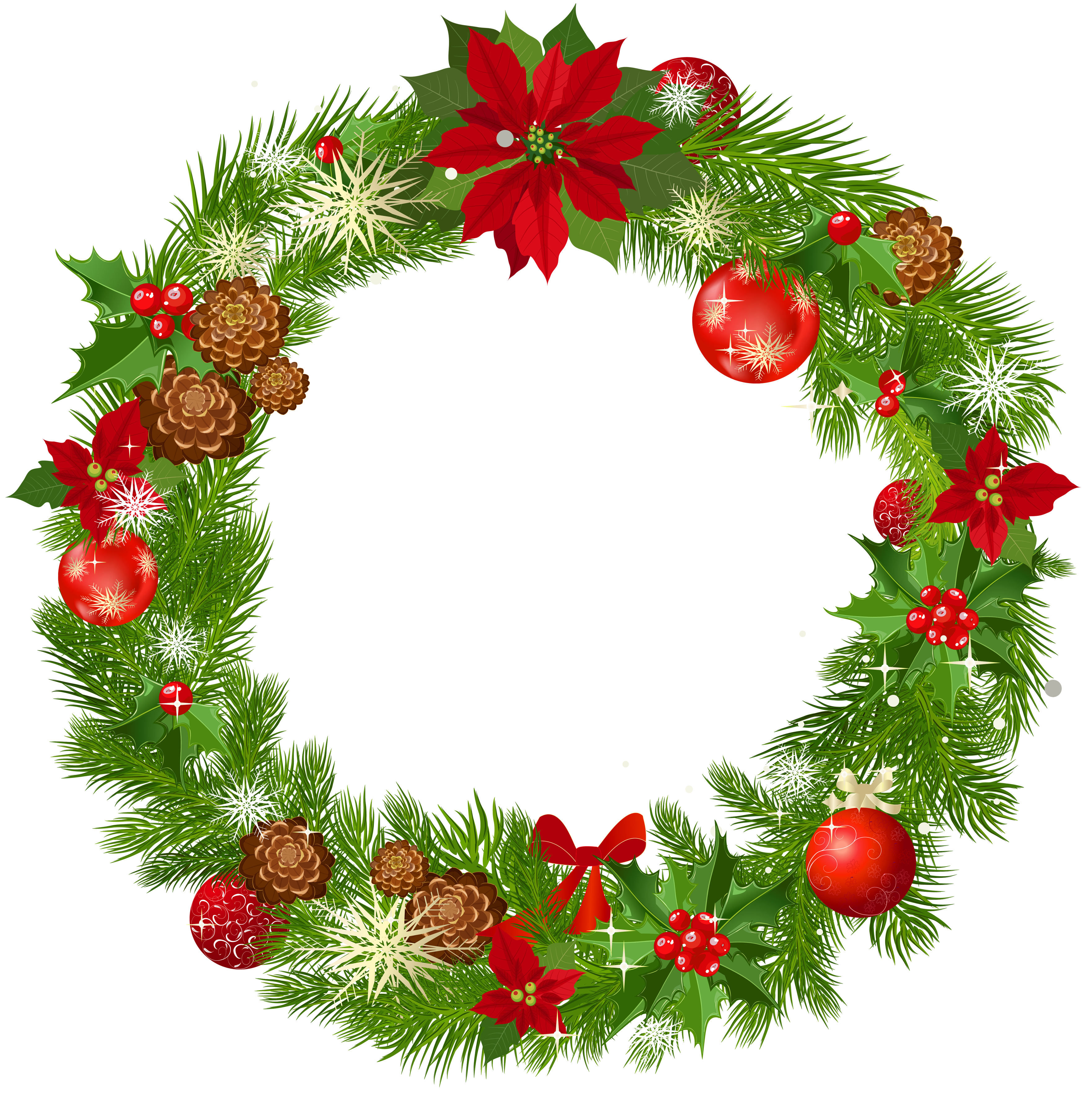 christmas clipart, christmas wreath cliparts download clip art #27683