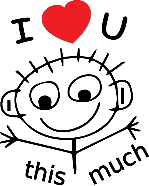 I love you this much clipart image #35942