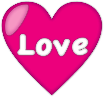 pink love heart clip art #35935